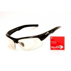 Occhiale da Sole Demon Fusion Fotocromatico con Clip per Lenti da Vista Nero
