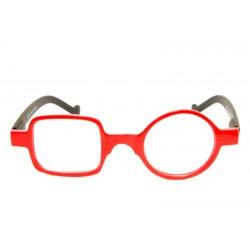 Occhiale da lettura Quadro Tondo Optivision 295P Rosso