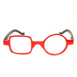 Reading Glasses Square Round Optivision 295P Red