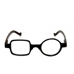 Reading Glasses Square Round Optivision 295P Black