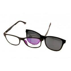 Eyeglasses Eroes with Clip Magnetic Sun CH-6097CLIP-PP BLK
