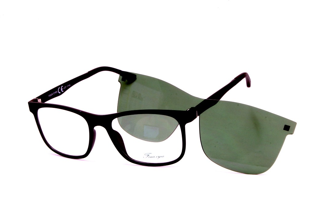 8e285350f821 Eyeglasses Four Eyes with Clip Magnetic Sun EY420 C1