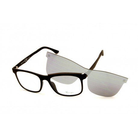 4f54d7f718e5 Eyeglasses Four Eyes with Clip Magnetic Sun EY420 C2