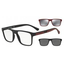 Occhiale da vista EMPORIO ARMANI EA 4115 5042/1W Con 2 Clip da Sole