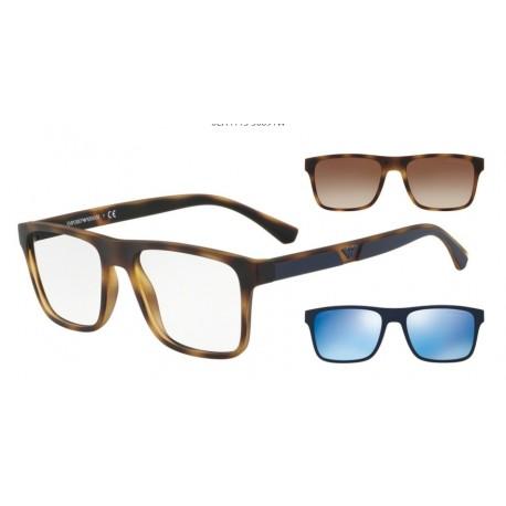 Occhiale da vista EMPORIO ARMANI EA 4115 5089/1W Con 2 Clip da Sole