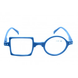 Reading Glasses Square Round Optivision 322P Light Blue