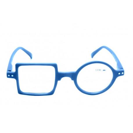 Occhiale da lettura Quadro Tondo Optivision 322P Azzurro