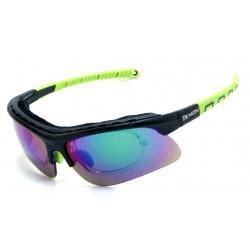 Occhiale da Sole Demon Infinite con Clip per Lenti da Vista - Nero/Verde