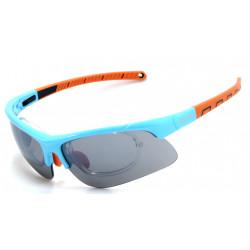 Occhiale da Sole Demon Infinite con Clip per Lenti da Vista - Azzurro/Arancio