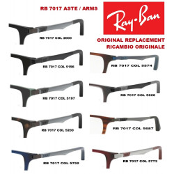 Aste ricambio Ray Ban RB 7017