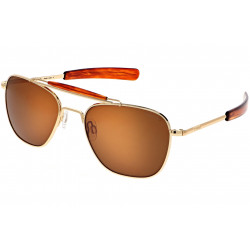 Randolph Aviator AT001 55MM, Bright Chrome, Gold 23k Polaryzed