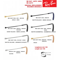 Replacement Arms Ray Ban RB 3447 - 3447V - 3447N - 3447JM