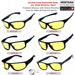 Glasses with Yellow Lenses Montana for Driving - 6 Model