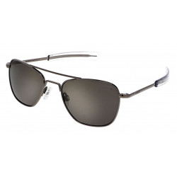 Randolph Aviator AF098 55MM GUNMETAL BAYONET 140 POLARIZED AMERICAN GRAY
