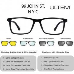 99 JOHN ST NYC ULTEM U-277 56-17 C02 + 4 Magnetic Clips