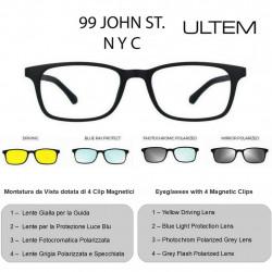 99 JOHN ST NYC ULTEM U-279 50-18 C02M + 4 Magnetic Clips