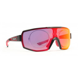 Occhiale da Sole Demon Performance RX Fotocromatico Specchiato con Clip per Lenti da Vista - Nero/Rosso