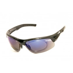 Sunglasses Demon Fusion with Clip for View Lenses Black