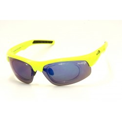 Sunglasses Demon Fusion with Clip for View Lenses Yellow